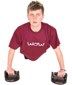 Teenager exercising.